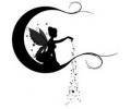 Sprookjes tattoo voorbeeld Elfje op maan