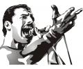Muziek tattoo voorbeeld Freddie Mercury 2