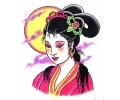 Japans tattoo voorbeeld Geisha 2