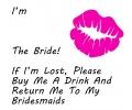 Vrijgezellenfeest tattoo voorbeeld I Am (Naam) The Bride