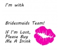 Vrijgezellenfeest tattoo voorbeeld I'm With (Naam) Bridesmaids Team