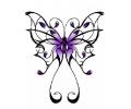 Tribals tattoo voorbeeld Tribal vlinder