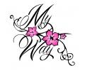 Spreuken / Poëzie tattoo voorbeeld My Way Kersenbloesem