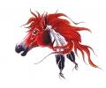 Indianen tattoo voorbeeld Paard 1