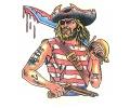 Piraten tattoo voorbeeld Piraat 1