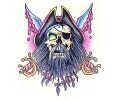 Skulls Kleur tattoo voorbeeld Skull Piraat