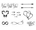Pols Tattoo - Combi Sets tattoo voorbeeld Pols Tattoo Combi Set 1