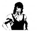 Hollywood tattoo voorbeeld Rambo