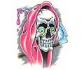 Skulls Kleur tattoo voorbeeld Reaper 5