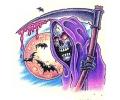Skulls Kleur tattoo voorbeeld Reaper 1
