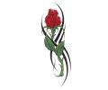 Roos tattoo voorbeeld Roos 1