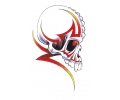 Skulls Kleur tattoo voorbeeld Skull Zijkant