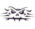 Skulls Zwartwit tattoo voorbeeld Skull Abstract