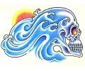 Skulls Kleur tattoo voorbeeld Skull Zijkant 2