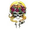 Skulls Kleur tattoo voorbeeld Skull Blondje