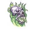 Skulls Kleur tattoo voorbeeld Skull Groen