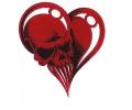 Skulls Kleur tattoo voorbeeld Skull Hartje