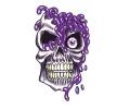 Skulls Kleur tattoo voorbeeld Skull Paars