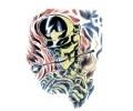 Skulls Kleur tattoo voorbeeld Skull met Pet