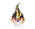 Skulls Kleur tattoo voorbeeld Skull Tovenaar 3
