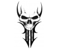 Skulls Zwartwit tattoo voorbeeld Skull Tribal 1