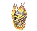 Skulls Kleur tattoo voorbeeld Skull Vlammen