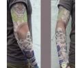 tattoo voorbeeld Sleeve 8 Clown/Skull
