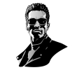 Hollywood tattoo voorbeeld Terminator 2