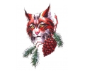 Roofdieren tattoo voorbeeld Bobcat