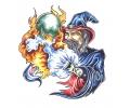 Boosaardige Tattoos tattoo voorbeeld Boze Tovenaar 2