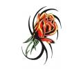 Bloemen tattoo voorbeeld Tribal Bloemen Rood