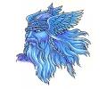 Vikingen tattoo voorbeeld Viking Blauw