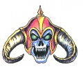Vikingen tattoo voorbeeld Viking Skull 2