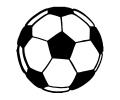 Voetbal tattoo voorbeeld Voetbal Zwart
