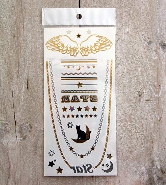 Gouden Tattoos Set 4 (10x21 cm)