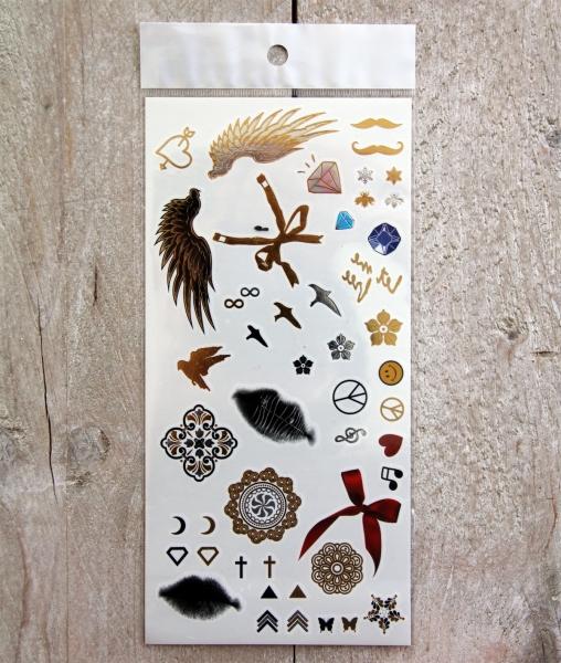 Gouden Tattoos Set 5 (10x21 cm)