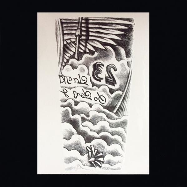 Schouder Tattoo 087 Zee en Vleugels