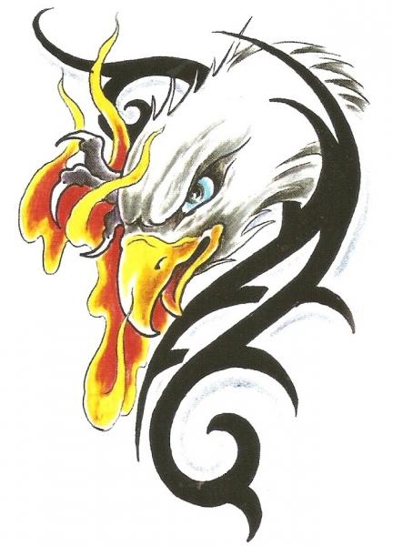 Arend met Vuur en Tribal