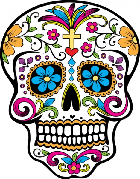 Day of the Dead Skull 7