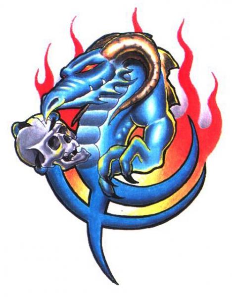 Draak en Skull