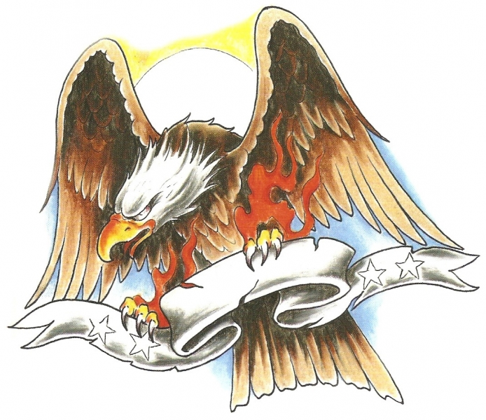 Fireclaw Eagle met Banner