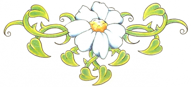 Flower Lower Back Tattoo