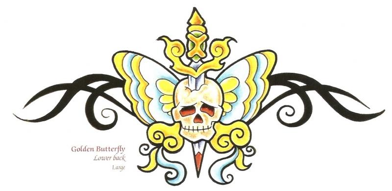 Golden Skull Tattoo