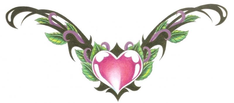 Heart Lower Back Tattoo
