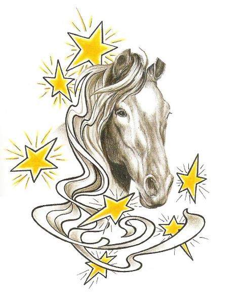 Paarden Faketattoonl