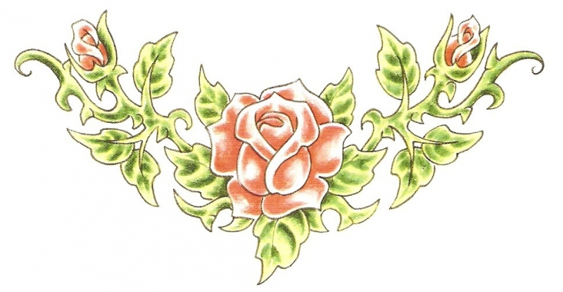 Rose Garden Lower Back Tattoo