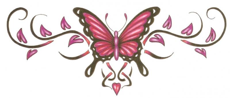 Rug Tattoo Vlinder