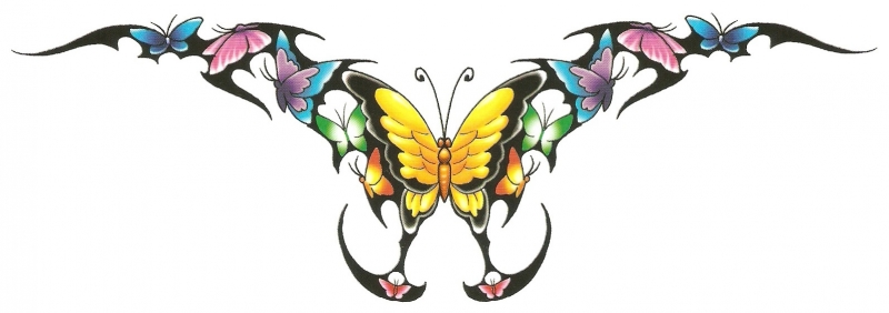 Rugtattoo Vlinder