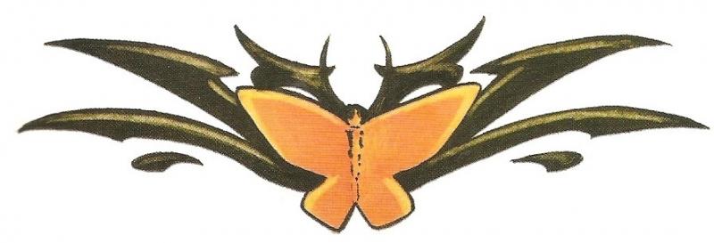 Tribal met Vlinder