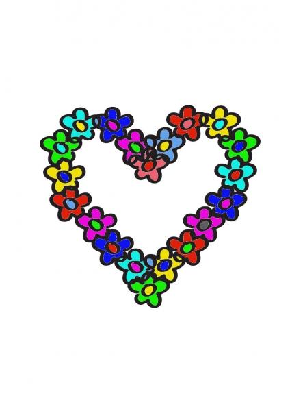 Bloemhart kleuren